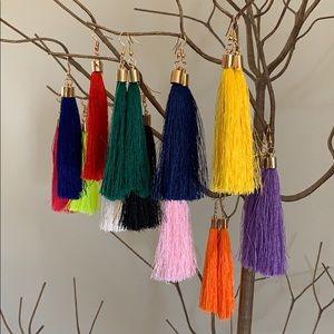 kelzposh Jewelry - BOGO! Long Pink Tassel Earrings